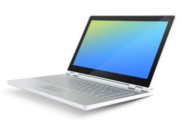 fehér laptop